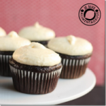 banana fudge cupcakes with banana cream cheese frosting