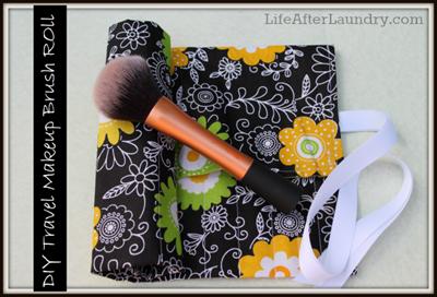 My DIY Travel Makeup Brush Roll