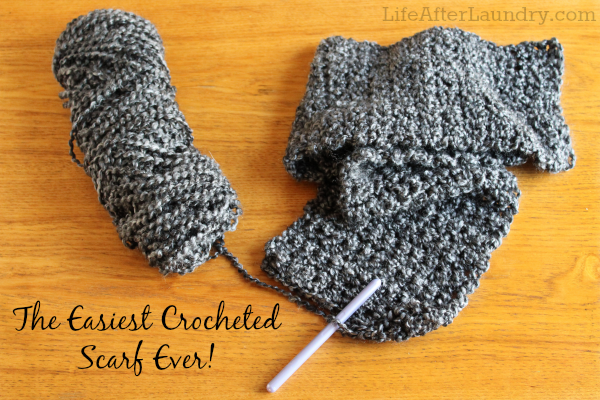 The Easiest Crocheted Scarf Ever