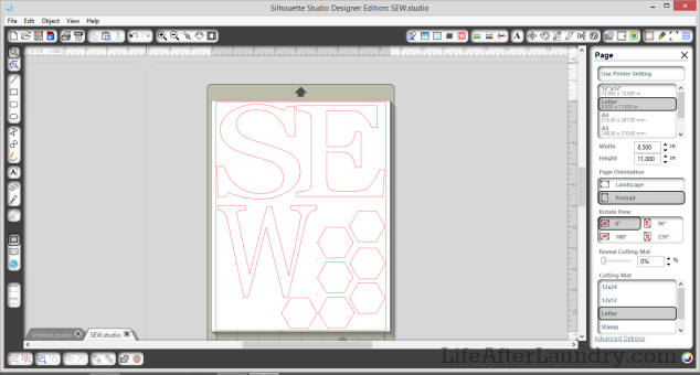 Sew Applique Project in Silhouette Software