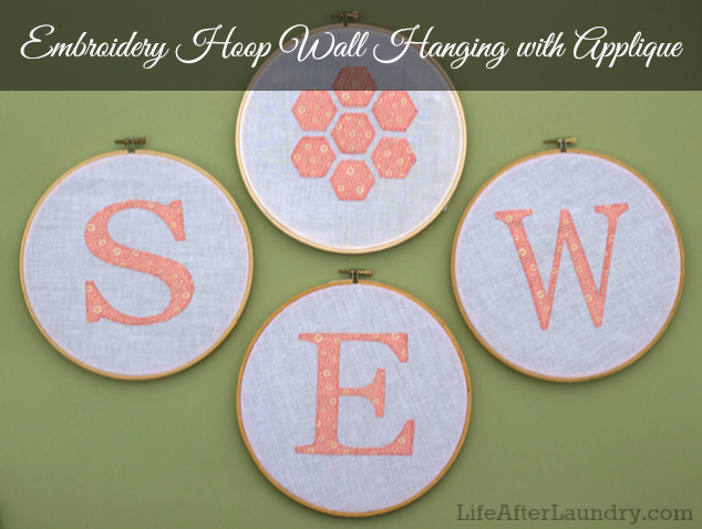 Sew-Cute-Applique-Wall-Hanging LifeAfterLaundry.com #Sewing #Silhouette #Crafts #DIY