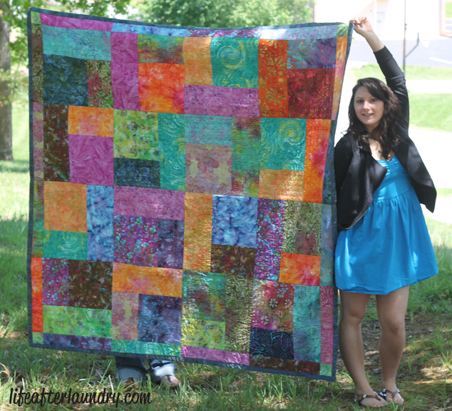 Turning Twenty Quilt | LifeAfterLaundry.com | #quilting #quilt #inspiration #fabric