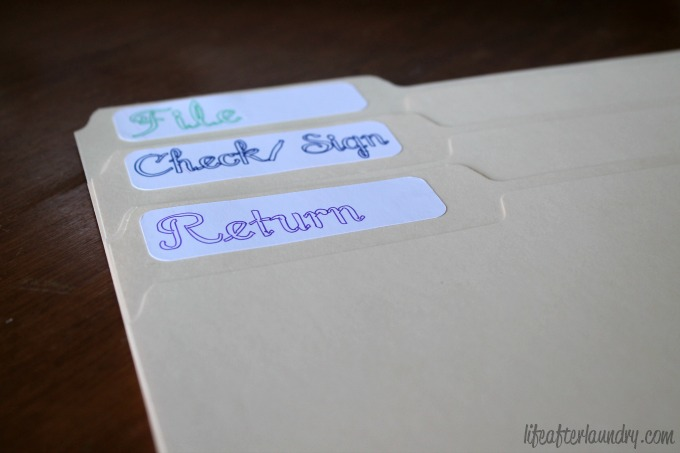 Folder Labels via LifeAfterLaundry.com