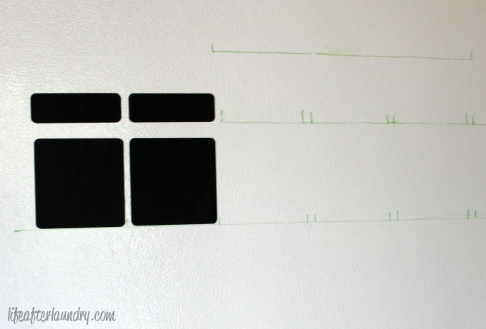 planning out chalkboard calender via LifeAfterLaundry.com