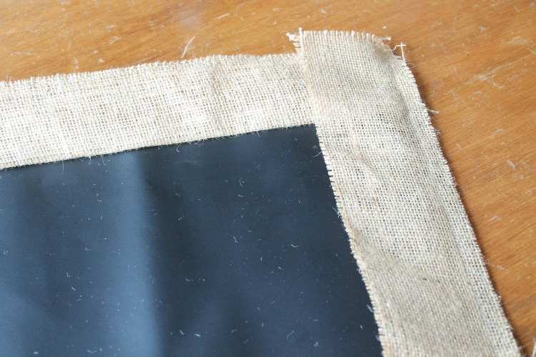 adding borders- chalkboard fabric table runner