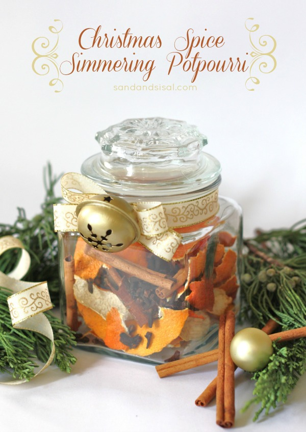 Christmas spice simmering potpourri plus more hostess gift ideas