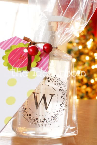 Monogrammed hand sanitizersoap bottles and other hostess gift ideas