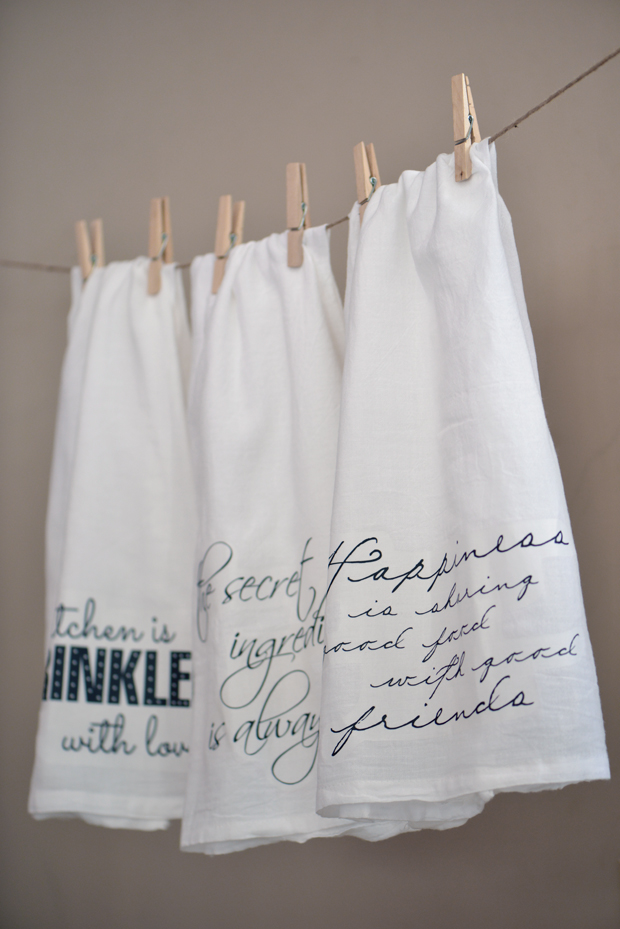 Tea towel plus more hostess gift ideas