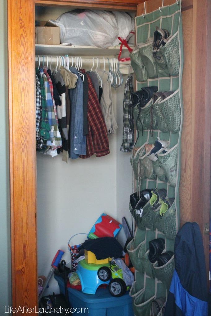 Messy boy's closet