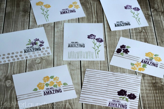 Painted Petals Cards via LifeAfterLaundry.com