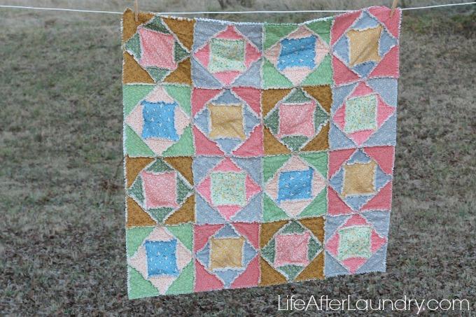 Square Dance Rag Quilt 3