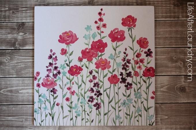 Turn your favorite scrapbook paper into home decor via lifeafterlaundry.com