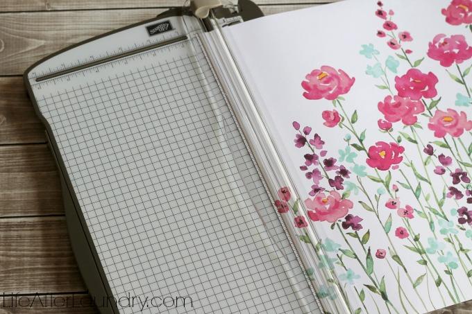 trimming scrapbook paper