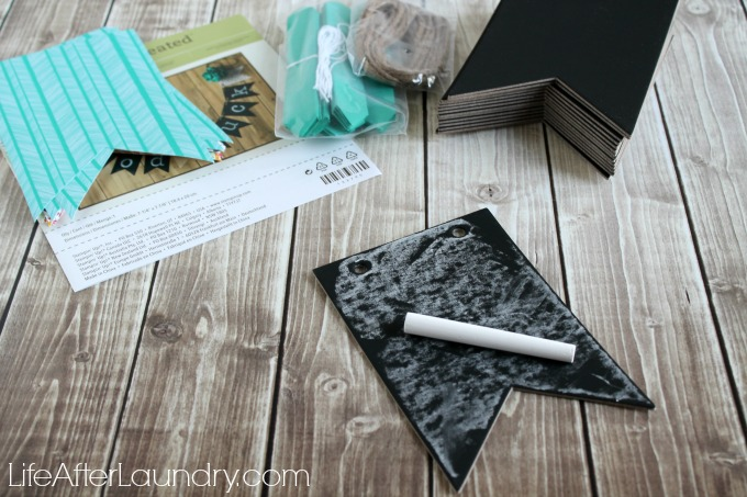 Putting together the Simply Created Chalkboard Banner