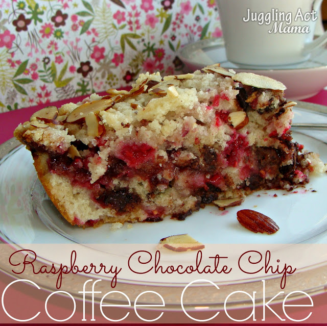 Rapsberry Chocolate Chip Coffee Cake