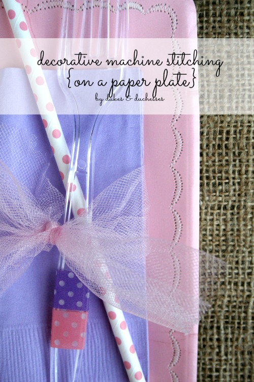 decorative-machine-stitching-on-a-disposable-paper-plate