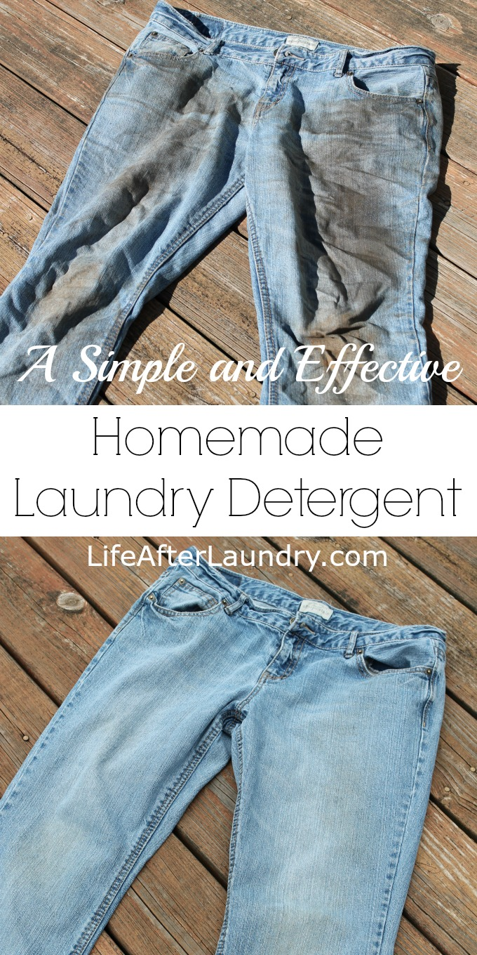 There are plenty of recipes floating around online,  I have tried most of them, but my favorite is this simple and effective homemade laundry detergent recipe.
