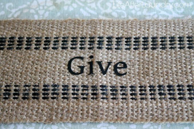 give ribbon for bank