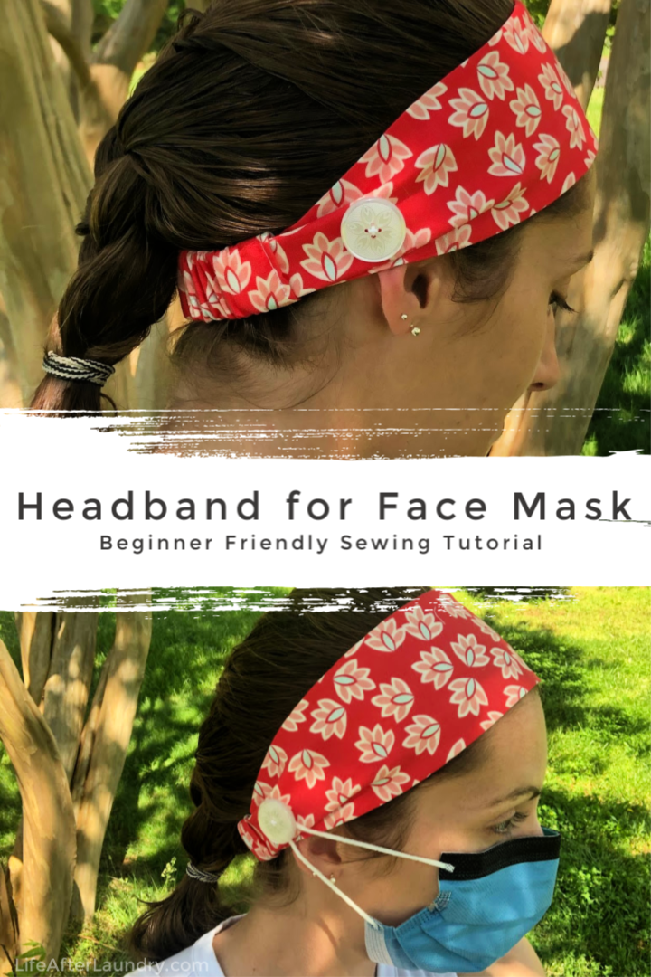 HEADBAND FOR FACE MASK: Comfortably wear a mask for hours! This beginner friendly, detailed pictures and a video to explain step by step how to make this Headband for Face Mask
